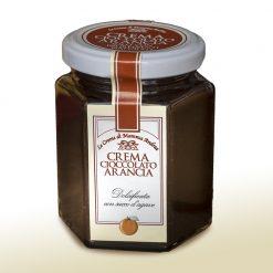 Crema cioccolato arancia dolcificata con succo agave