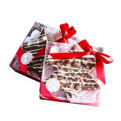 Stellina di cioccolato torronato fondente e pistacchi