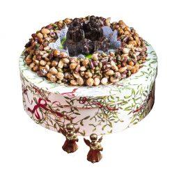 Croccante con presepe di cioccolato fondente