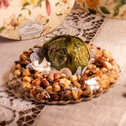 Croccante con uovo cioccolato latte pralinato al pistacchio