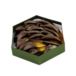 Arance ricoperte di cioccolato fondente - esagonale 16