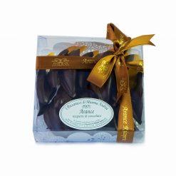 Arance ricoperte di cioccolato fondente - acetato quadro