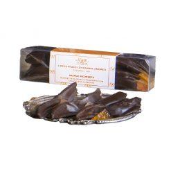 Arance ricoperte di cioccolato fondente - acetato rett. Con fascetta