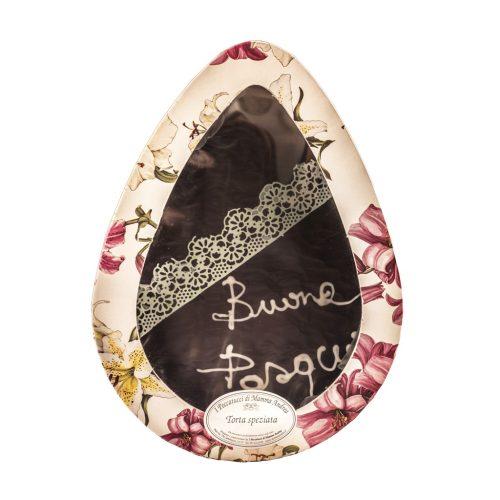 Torta uovo alle spezie ricoperta di cioccolato fondente