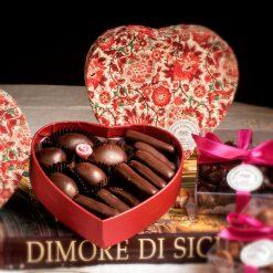 Marroncini e zenzero ricoperti di cioccolato fondente
