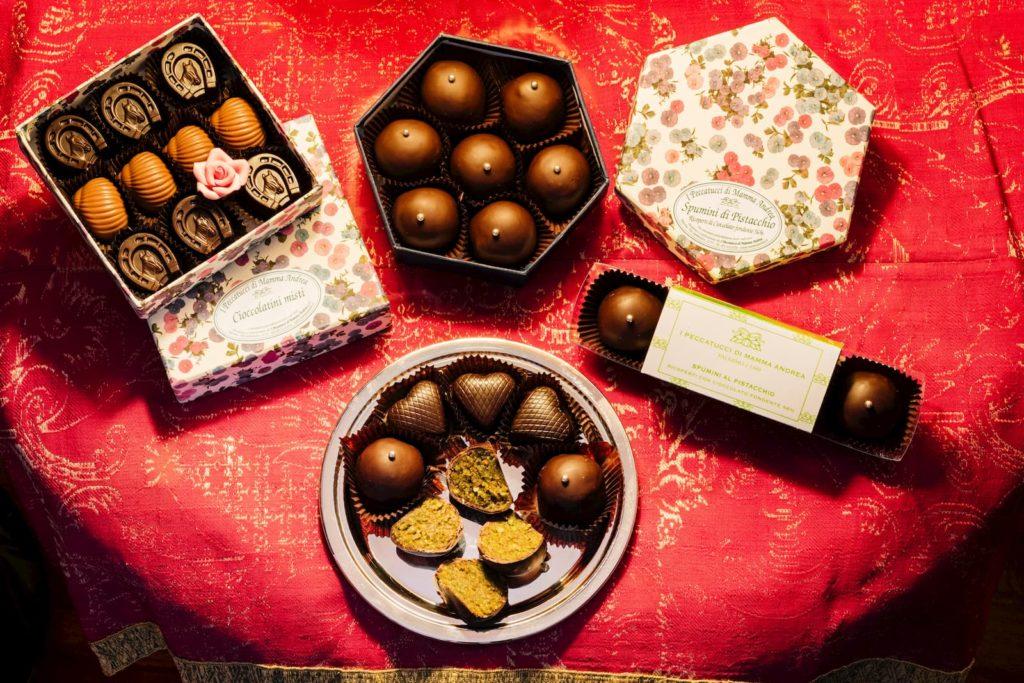cioccolatini e spumini pistacchio